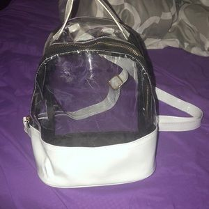 Clear and white bag